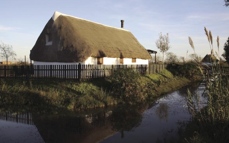 Maison traditionnelle du parc naturel du Delta de l'Ebre