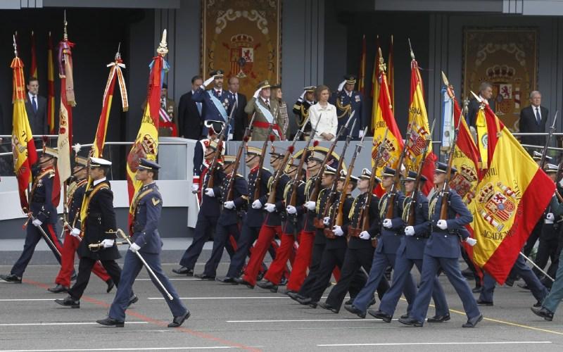 Défilé militaire le jour de la fête nationale