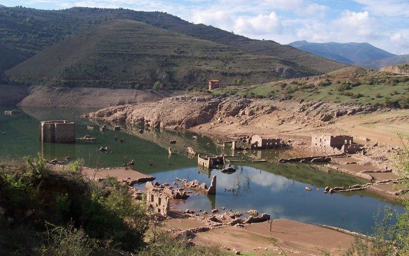 Ruines de ce qui est maintenant l'ancienne Mansilla de la Sierra