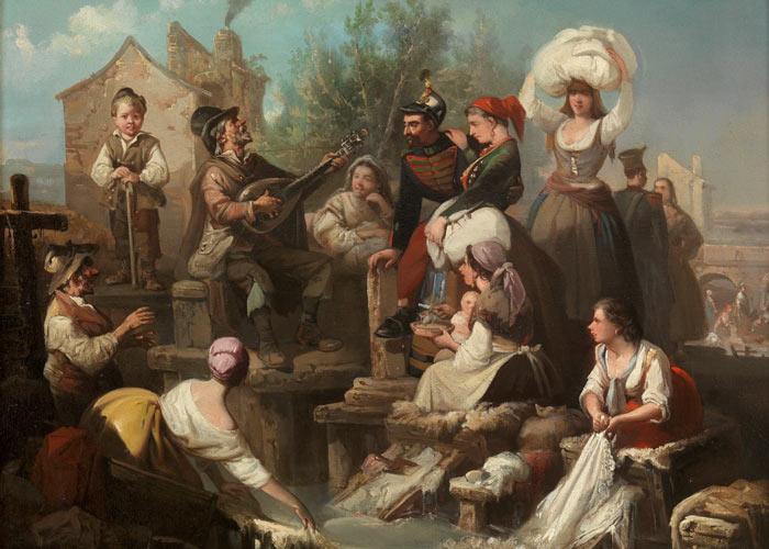 Les lavandières du Manzanares par Manuel Rodríguez de Guzmán