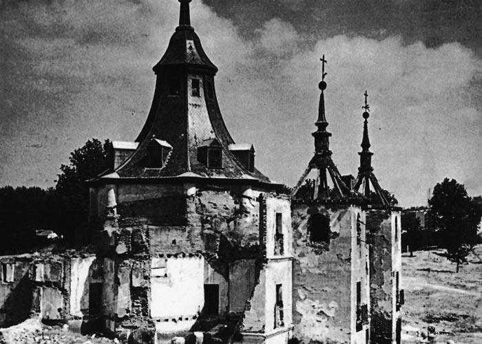 L'église détruite