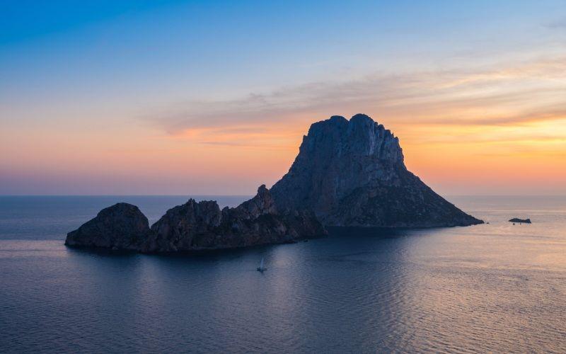 Coucher de soleil sur l'île d'Es Vedrà