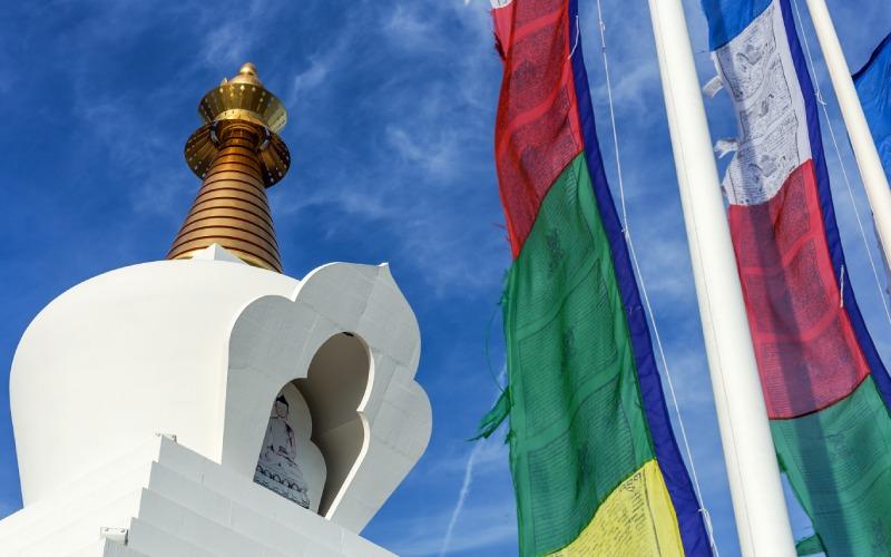 La construction de ce temple bouddhiste a été achevée en 2003