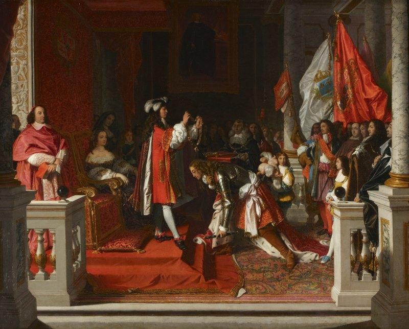 Philippe V impose la Toison d'or au duc de Berwick, Jean Auguste Dominique Ingres, 1818