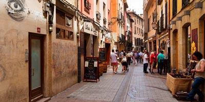 La famosa Calle del Laurel en Logroño