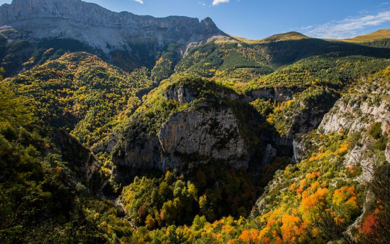 Alentours des Gorges d'Escuaín en automne