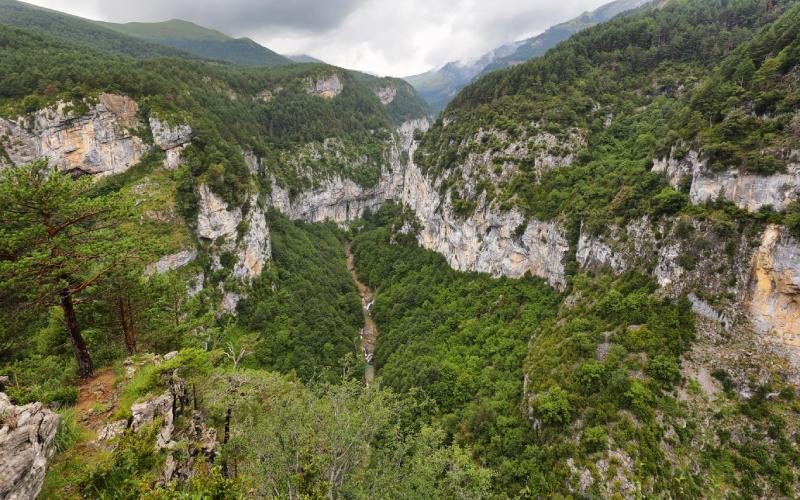 Gorges d'Escuaín depuis le Mirador de Revilla