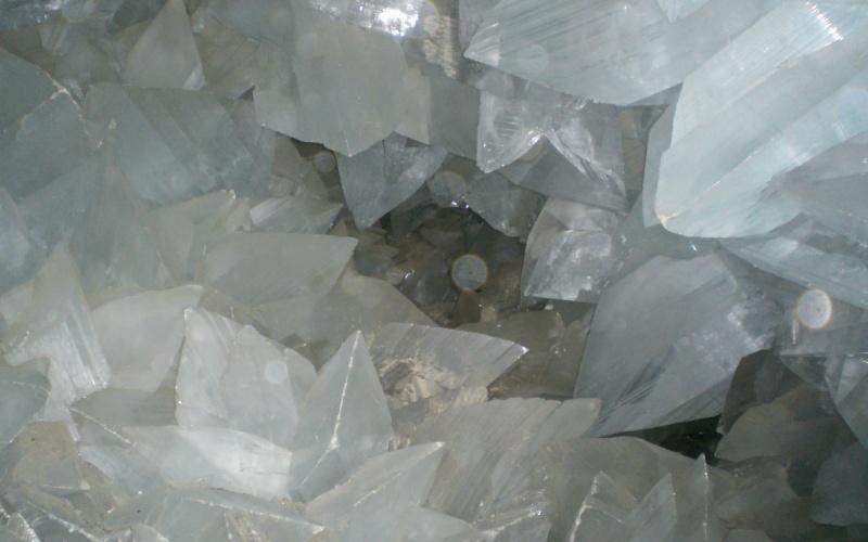Image de l'intérieur de la géode Pulpí