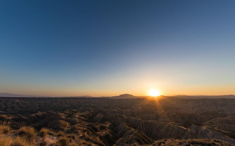 Terrain désertique de Gorafe