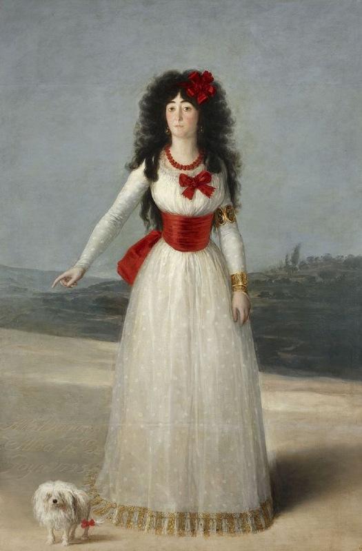 La duchesse d'Albe par Francisco de Goya