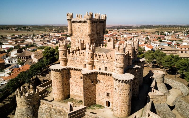 Vue aérienne du château, Guadamur