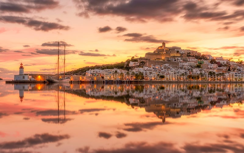 Vue panoramique d'Ibiza