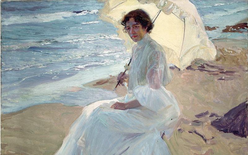 Clotilde sur la plage, Sorolla
