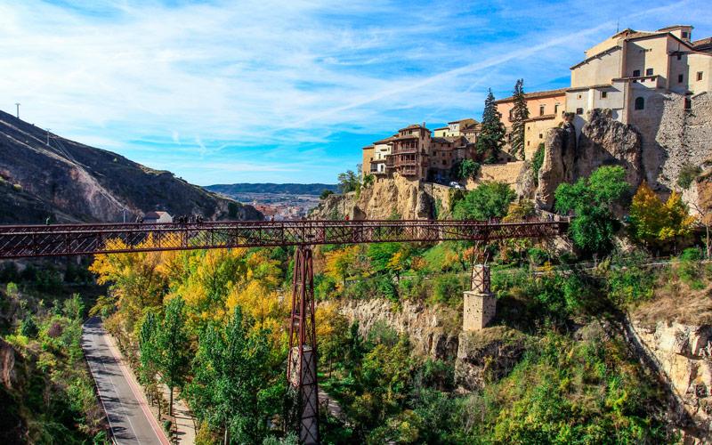 Les maisons suspendues de Cuenca et le pont de San Pablo