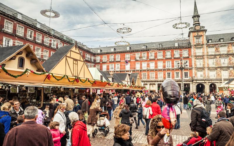 Marché de Noël sur la Plaza Mayor