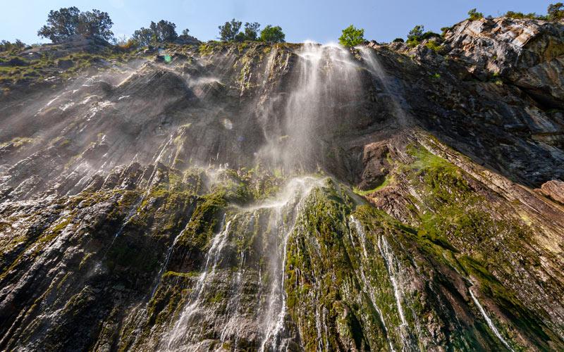 La cascade de Cailagua vue d'en bas