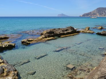 Les Bains de la Reine de Calpe, pour se baigner sur la plage entre des ruines romaines