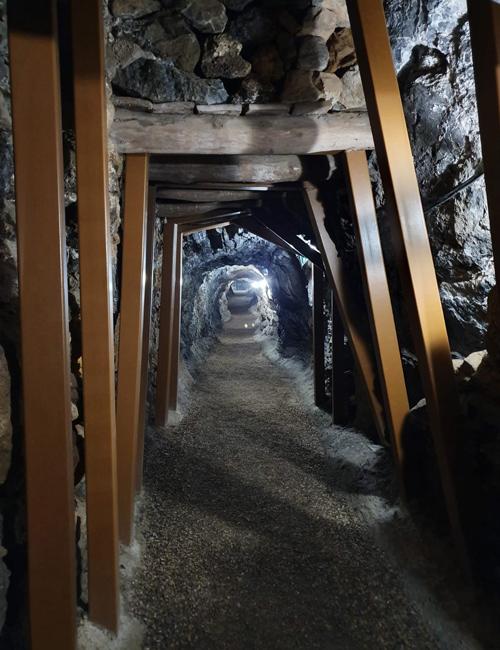 Intérieur de la mine de Pulpí