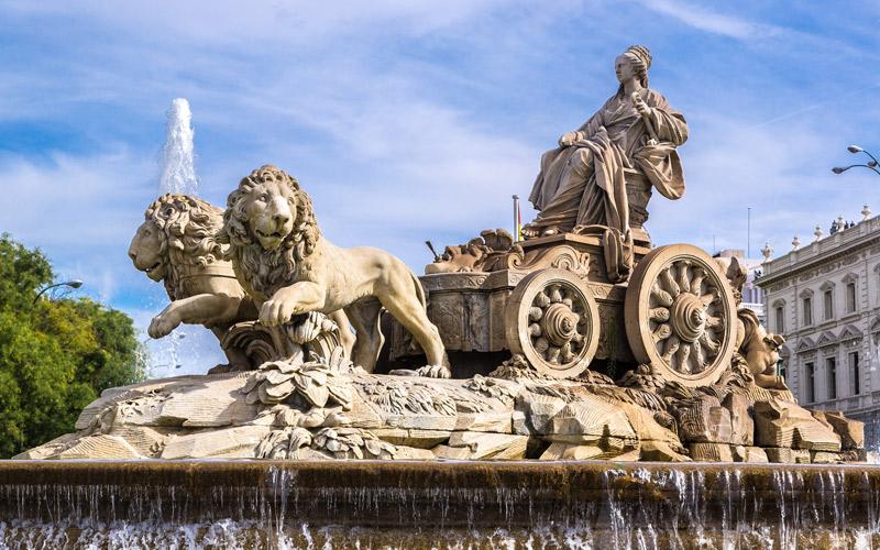 La fontaine Cybèle à Madrid