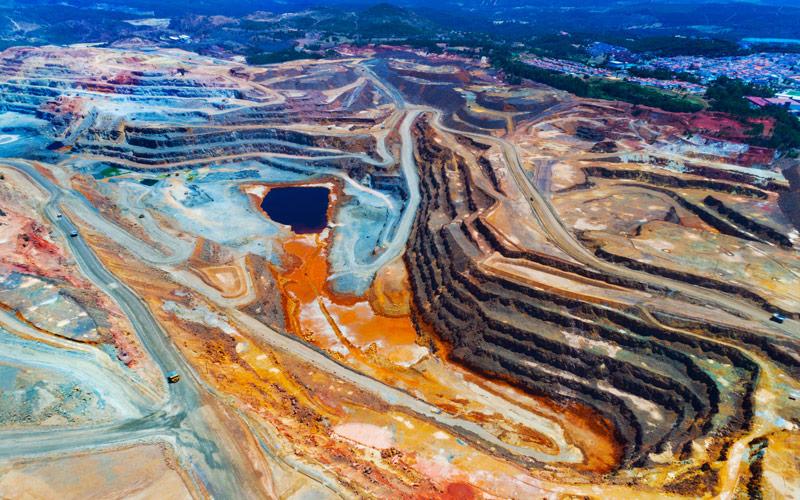Mines de cuivre à Río Tinto
