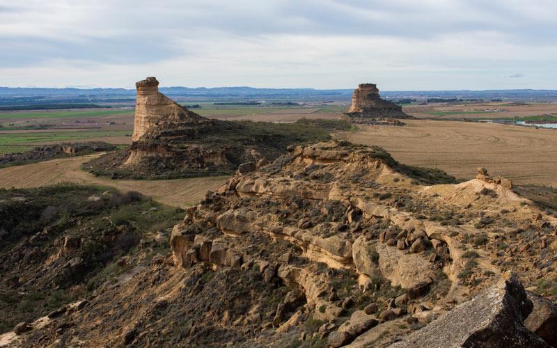 La Gabarda, une autre zone au nord de la région avec des formations géologiques et des vestiges archéologiques