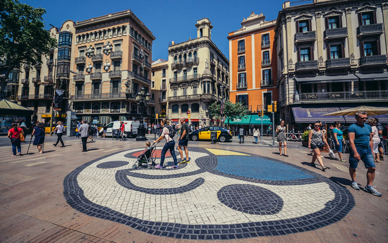 Mosaïque de Miró sur les Ramblas de Barcelone