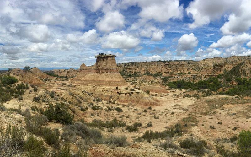 Vue panoramique du tozal Solitario