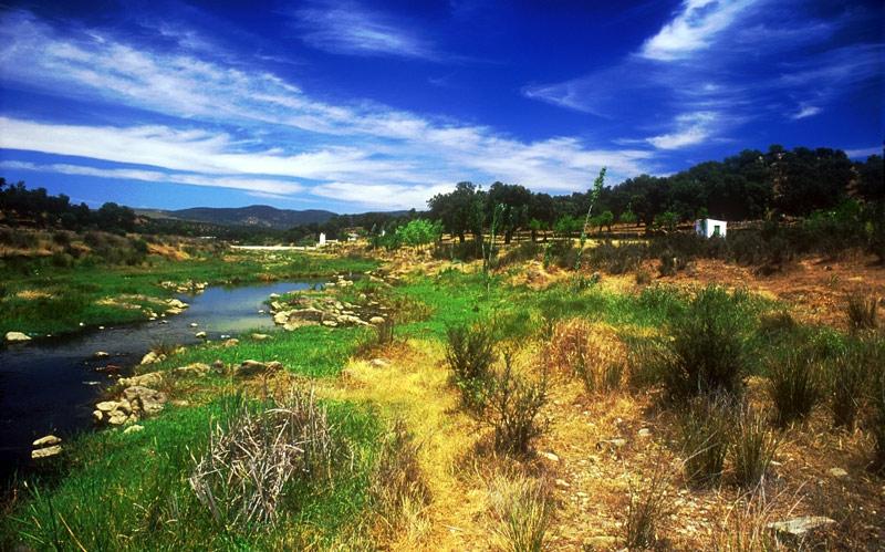Paysage naturel de la Sierra Norte de Séville