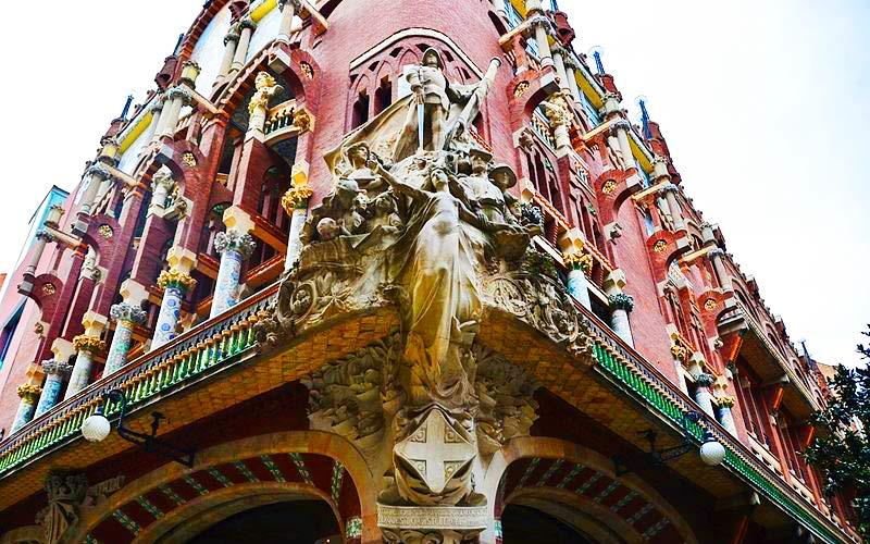 La chanson catalane sur la façade du Palais de la musique catalane