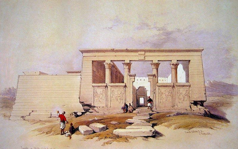 Lithographie du Temple de Debod