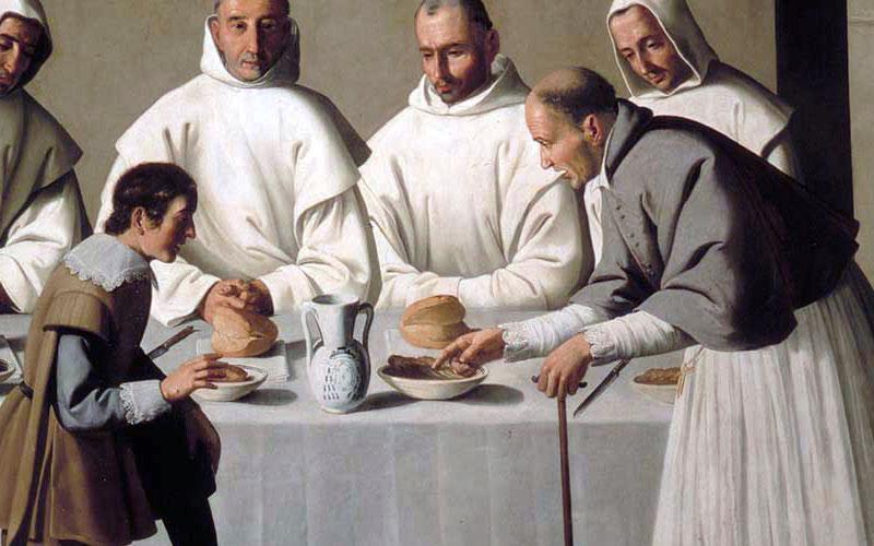 Détail de Saint Hugues au réfectoire