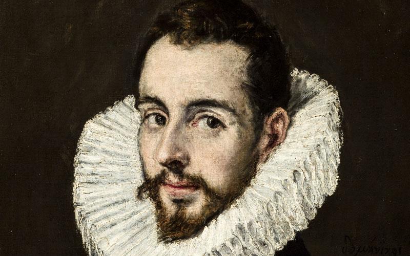 Détail du Portrait de son fils Jorge Manuel, El Greco