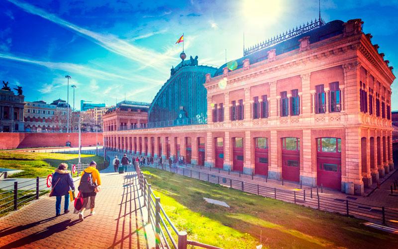 Madrid antiguo: Estación de Atocha actualmente