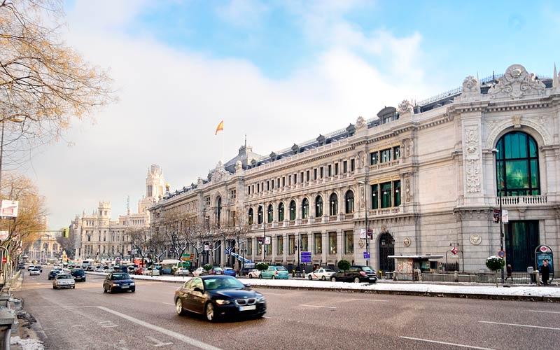 Madrid antiguo: Banco de España actualmente