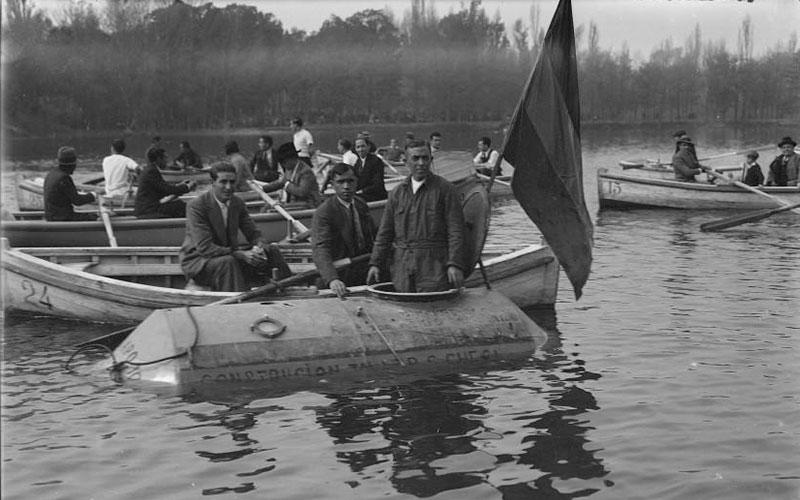 Madrid antiguo: El lago en 1932
