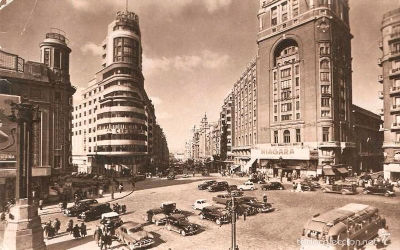 Madrid antiguo: Plaza de Callao en 1957