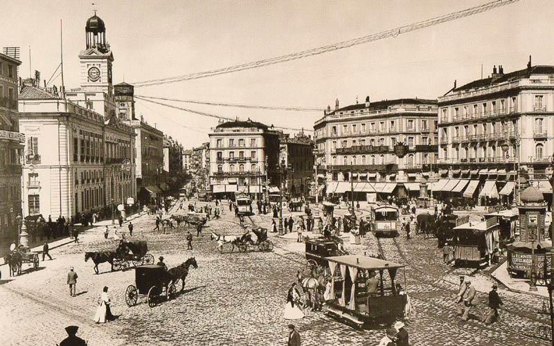 Madrid antiguo: Puerta del Sol principios del siglo XX