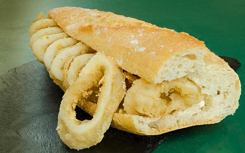 Sandwich aux calamars