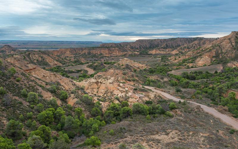 Vue panoramique du désert de Monegros