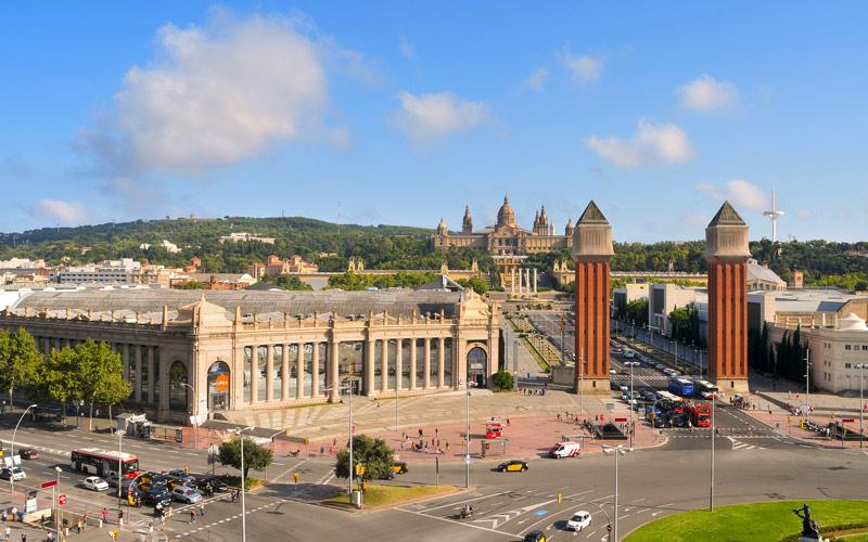 Ensemble monumental construit lors de l'Exposition Internationale de 1929