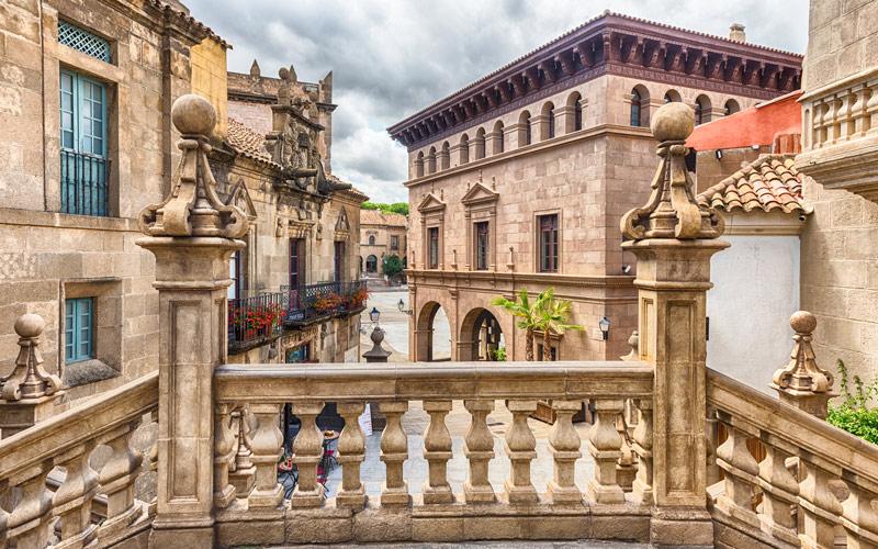 Exemple de beauté architecturale du Poble Espanyol