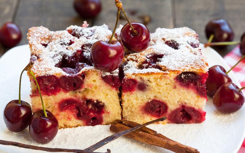 Gâteau aux cerises du Jerte