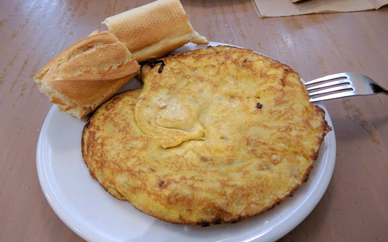 tortilla en San Sebastián