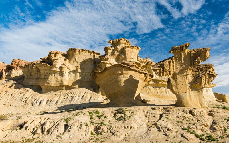 Les Gredas de Bolnuevo formées par l'érosion au cours des siècles