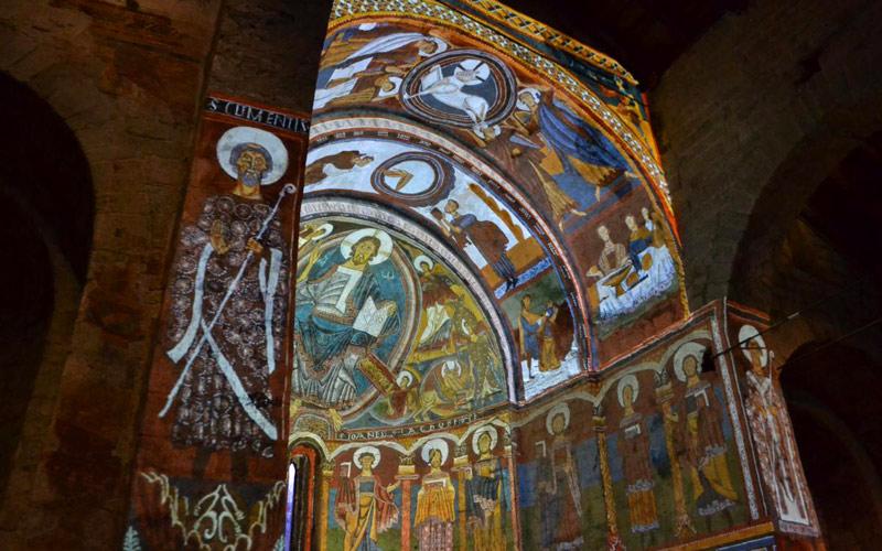 Église Sant Climent de Taüll, vidéo-mapping