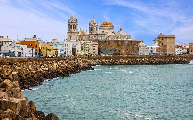 Promenades en bord de mer d'Espagne. Cadix