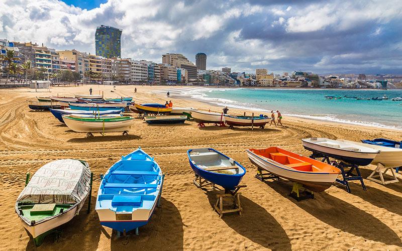 Promenades en bord de mer d'Espagne. Las Palmas de Grande Canarie