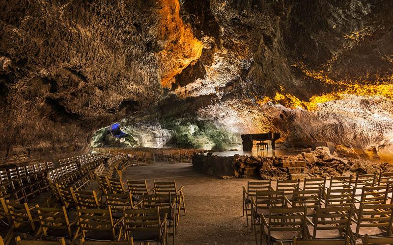 Auditorium de la grotte de Los Verdes