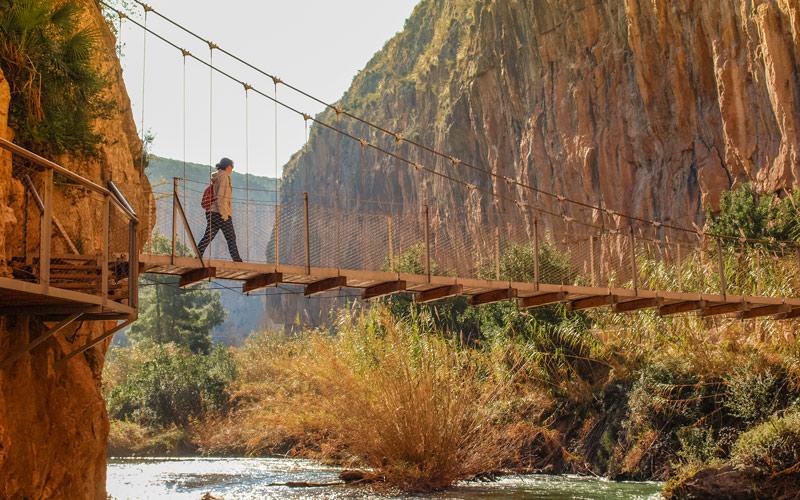Puentes colgantes en Chulilla