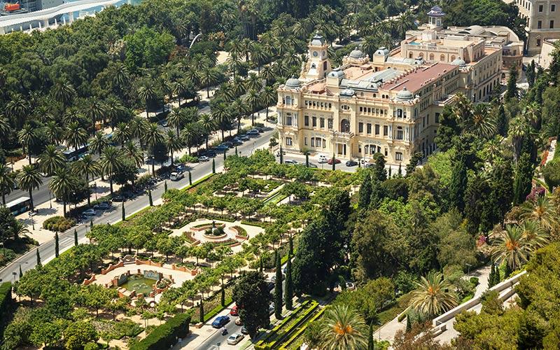 Les jardins de Pedro Luis Alonso et Mairie de Málaga